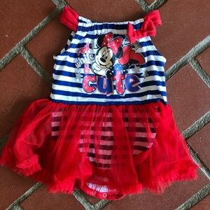 Minnie Mouse Red White and Cute Bodysuit